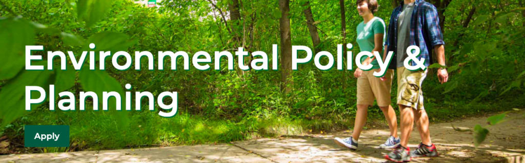 Environmental Policy and Planning