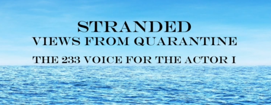 Sustaining Creativity: A Selection of Monologues from Stranded: Views from Quarantine