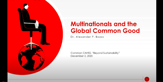 Multinationals and the Global Common Good (w/ Dr. Xan Bozzo)